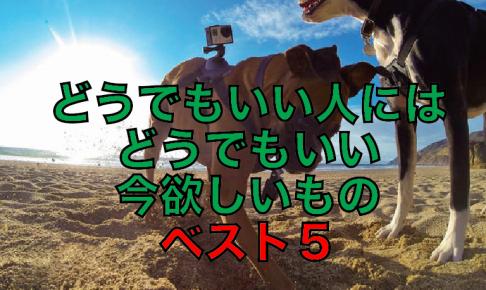 【厳選】どうでもいい人にはどうでもいい。今吉武穂高が欲しいものベスト5!